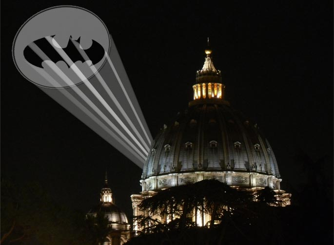 Vat-señal, con v de Vaticano