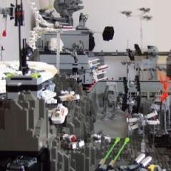 Increíble diorama de Star Wars