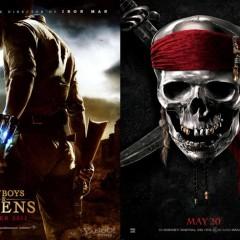 'Cowboys and Aliens' y 'Pirates of the Caribbean: On Stranger Tides', primeros carteles y cuenta atrás para el tráiler