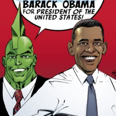 Savage Dragon apoya a Obama