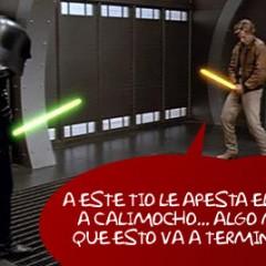 Darth Vader borracho ataca a grupo Jedi