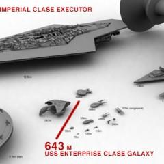 Comparativa de tamaño de naves de Star Wars y Star Trek