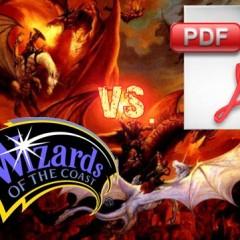 Wizards arremete contra los PDFs, Paizo los ama
