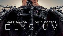 Elysium, póster con el exoesqueleto de Matt Damon