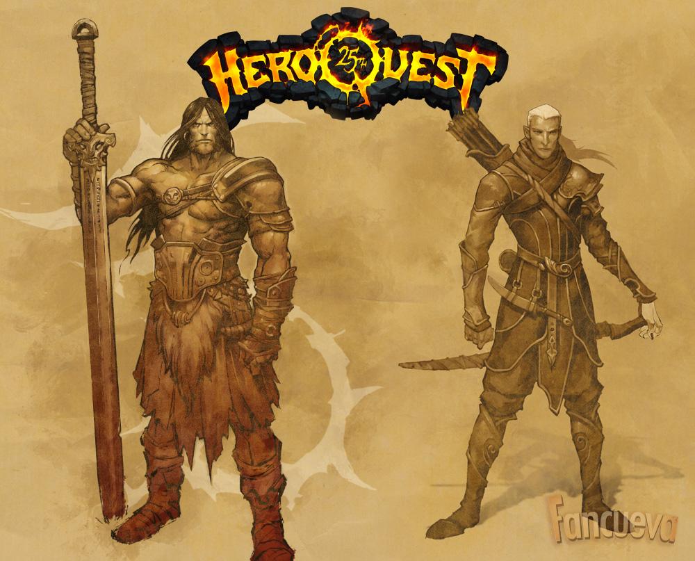 Heroquest Classic Elfo y Guerrero