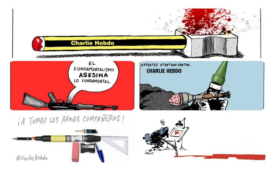 Charlie Hebdo collage