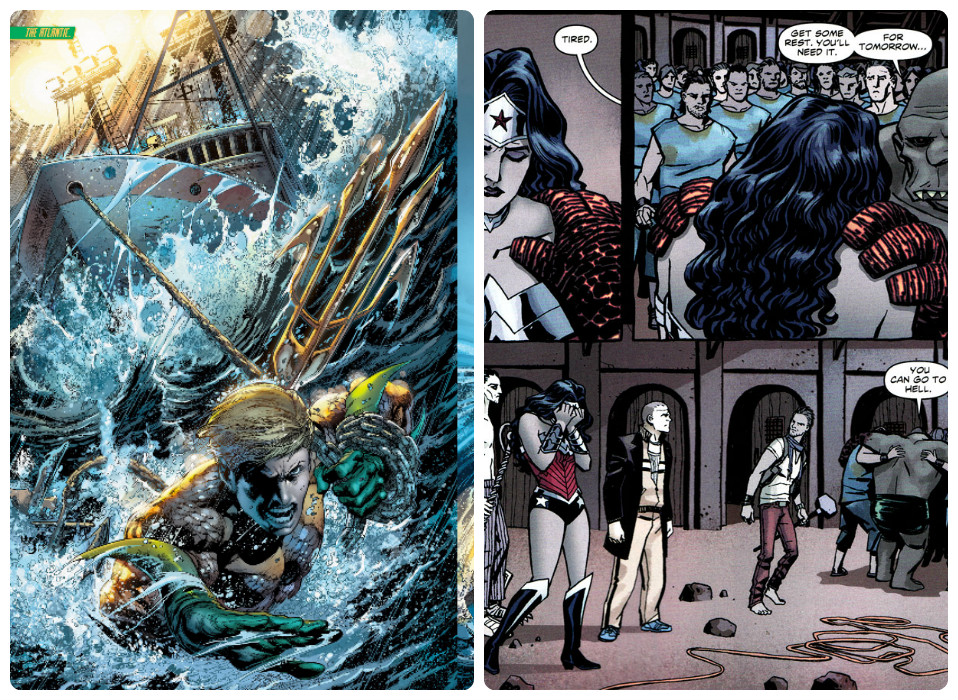 Aquaman-Wonder woman interior