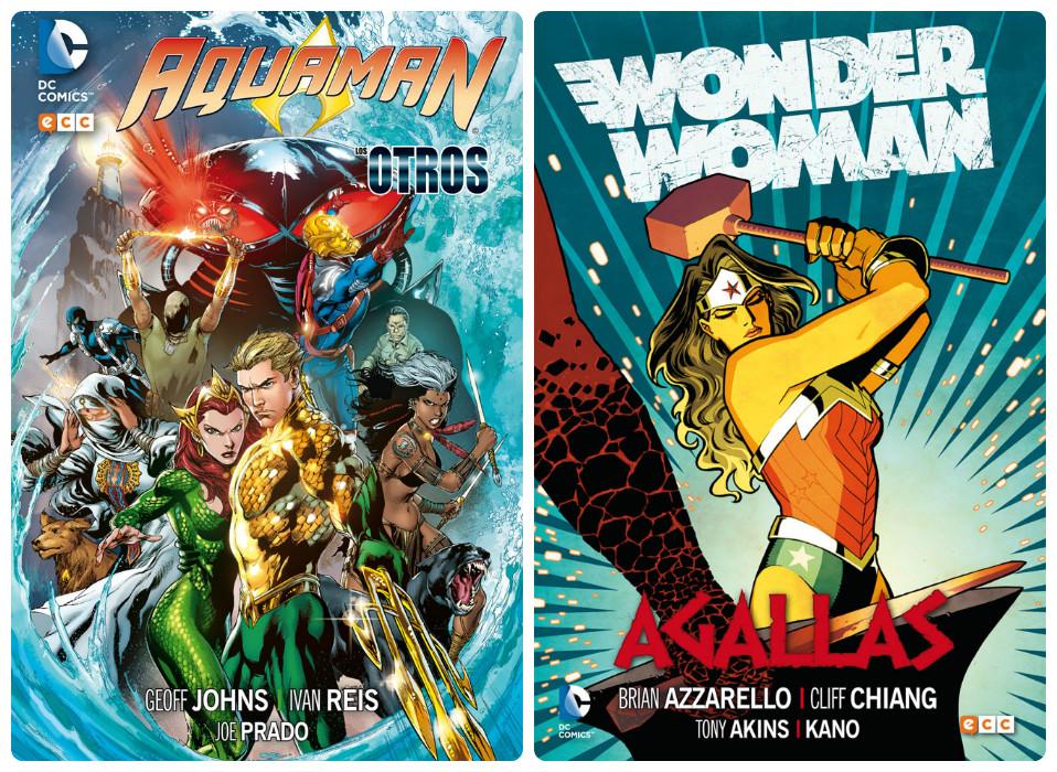 Aquaman-Wonder woman portadas