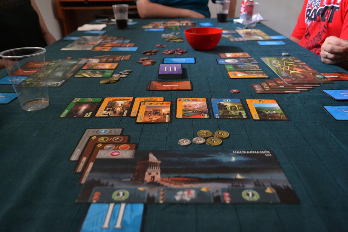 Una partida de 7 Wonders