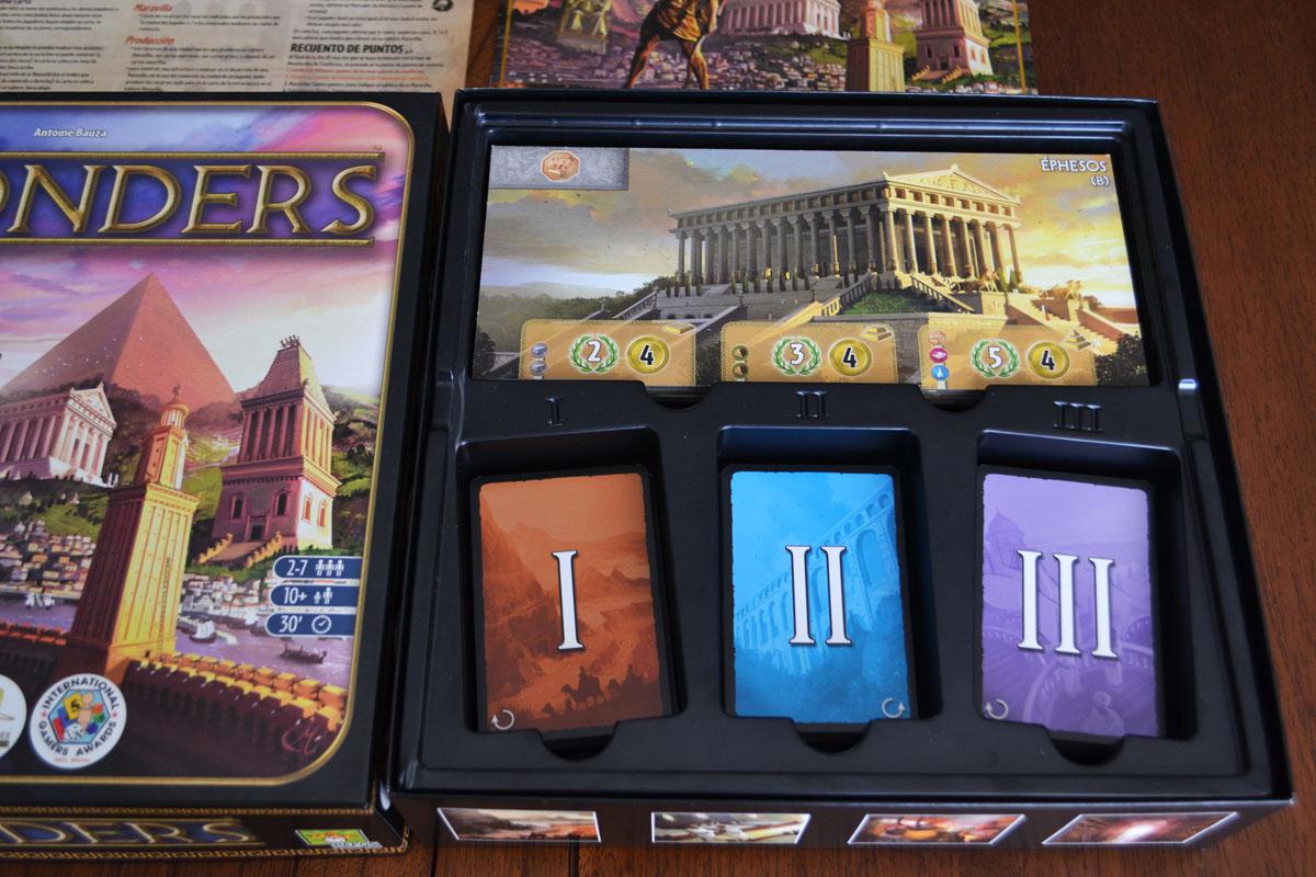 La caja de 7 Wonders