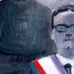 '¡Maldito Allende!, de tonos oscuros y escalas de grises