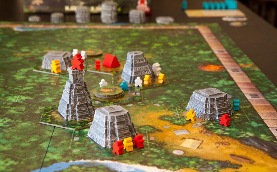 Tikal. Tablero