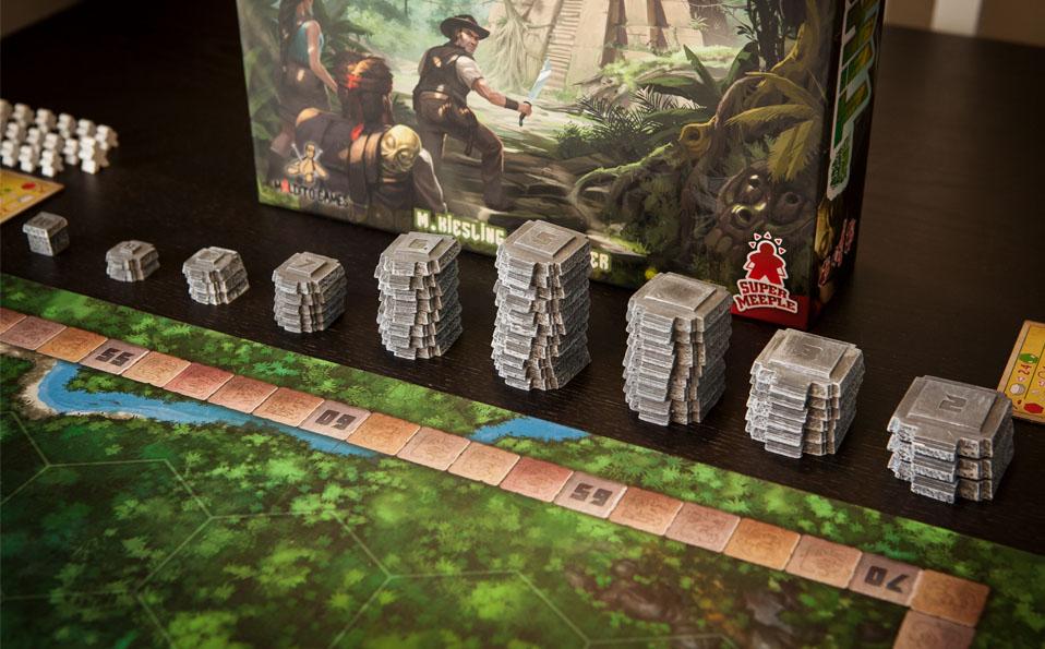 Tikal. Componentes de juego (templos)