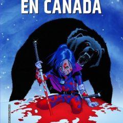 'Hit-Girl en Canadá', roja sobre blanca